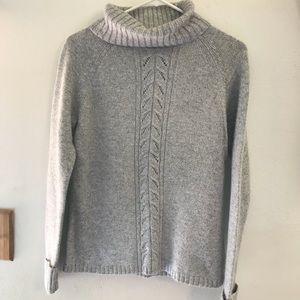 St. John's Bay Gray Angora Sweater Size Medium